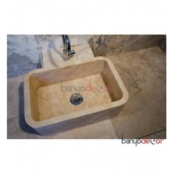 OVAL TRAVERTEN LAVABO